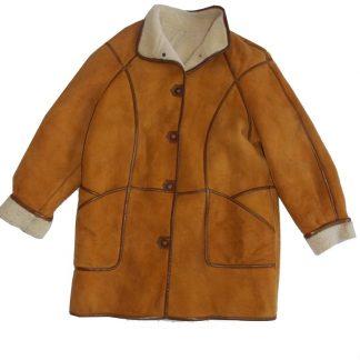 veste peau lainée vintage