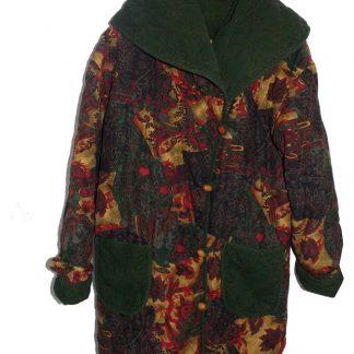 veste matelassée vintage motif paisley