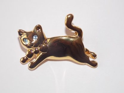 broche chat vintage