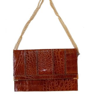 sac vintage simili croco