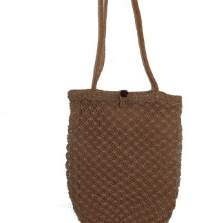 sac filet vintage macramé