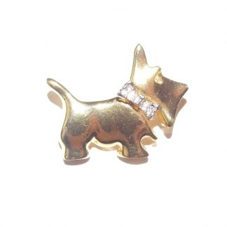 broche vintage scottish terrier