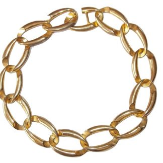 collier vintage doré