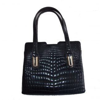 sac à main vintage simili croco