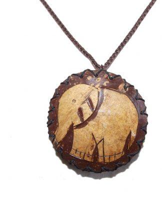 mini sac collier porte monnaie noix de coco