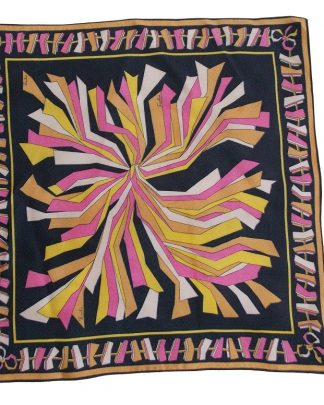 foulard carré vintage Emilio Pucci