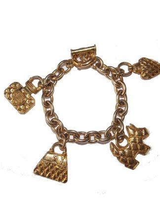 bracelet doré breloques