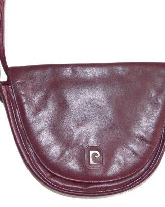 sac vintage en cuir Pierre Cardin
