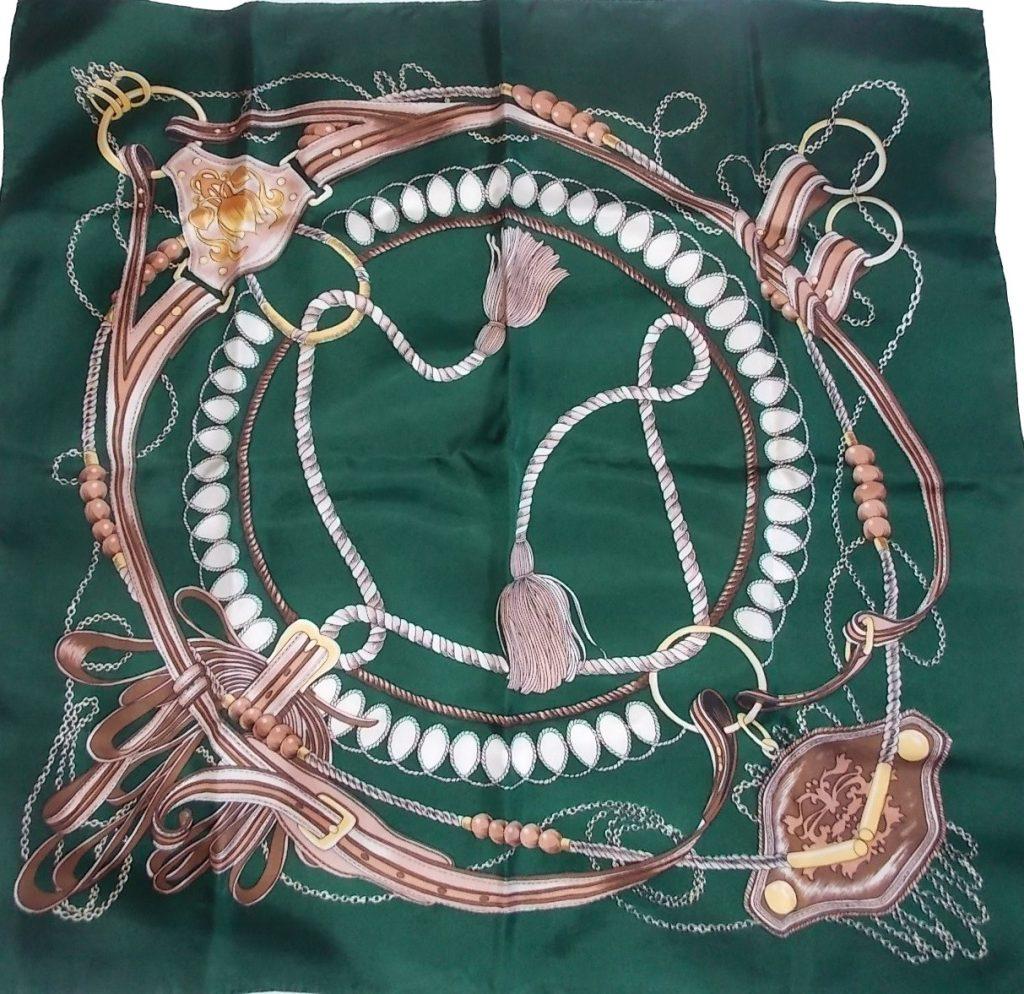 foulard vintage équestre