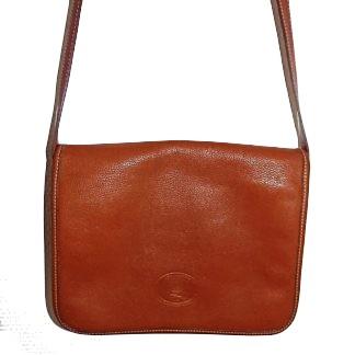 sac Longchamp cuir grainé
