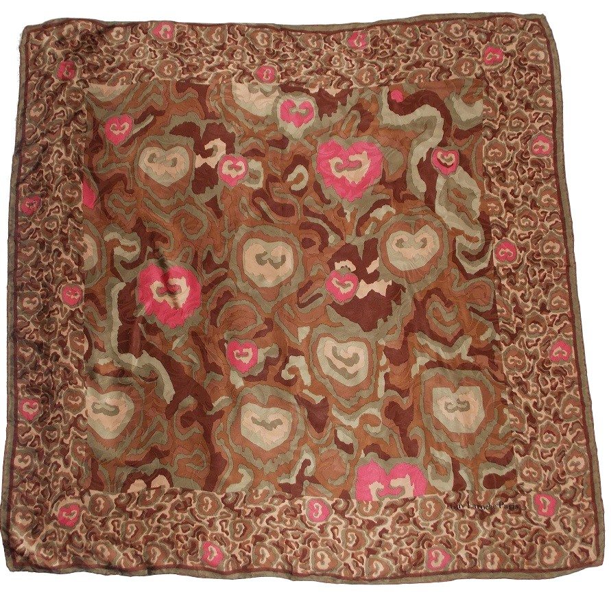 foulard Guy Laroche Paris imprimé animal