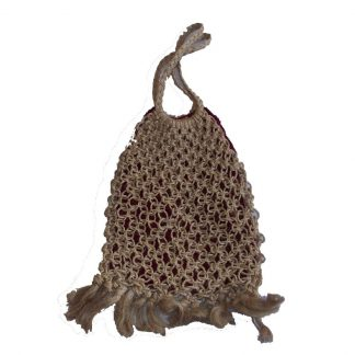 sac filet macramé vintage