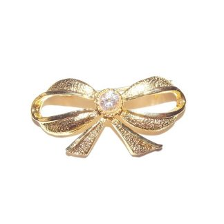broche vintage noeud
