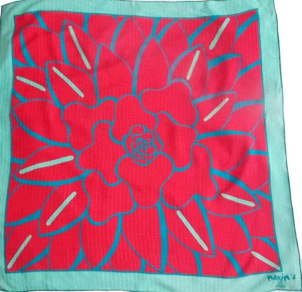 foulard vintage Maxims