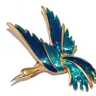 broche oiseau vintage