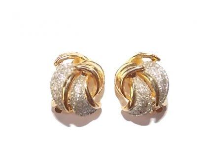 clip boules d'oreilles argenté doré