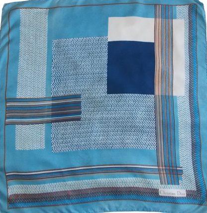 foulard Dior bleu