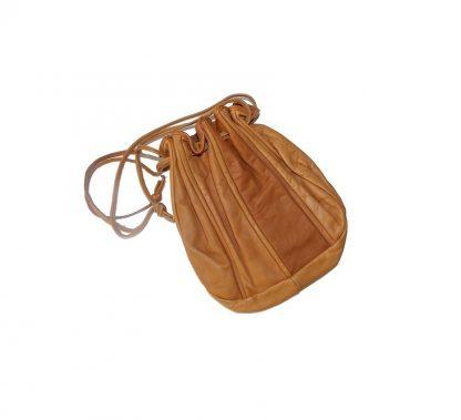 sac cuir naturel vintage