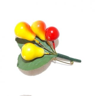 broche fruits vintage