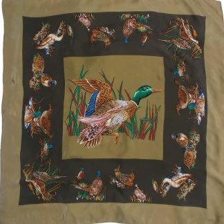 foulard en soir motif canards sauvages