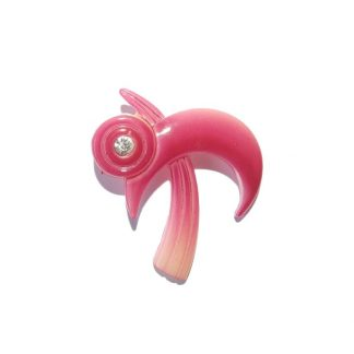 broche vintage plastique moderniste