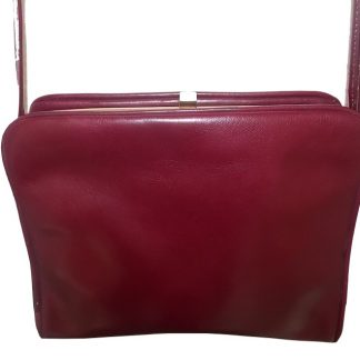 Sac vintage cuir bordeaux Tanya Made in Italy