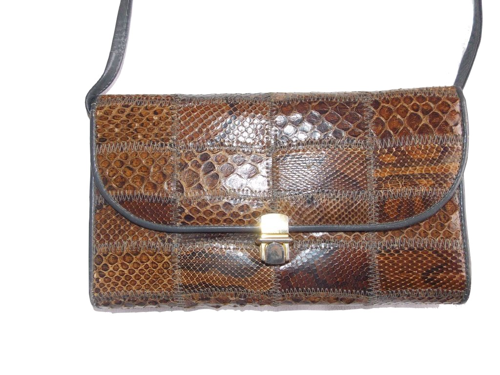 sac vintage patchwork serpent