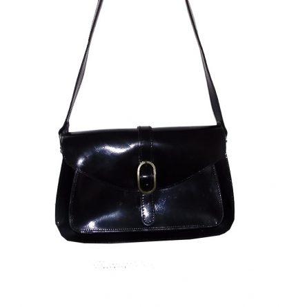 sac vintage verni noir Emy