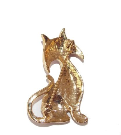 broche vintage chat